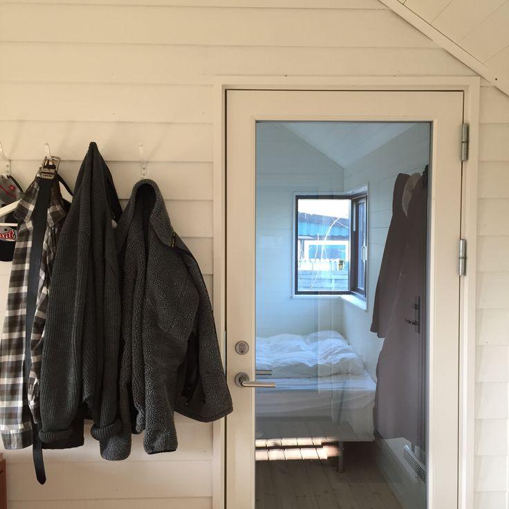 view from breezeway to bedroom