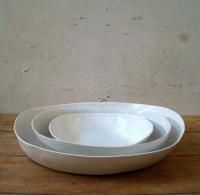 Oval platters white