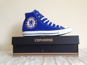 Chelsea FC Converse  So cool! I want these!