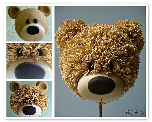Teddy Bear...no instructions...may not even be the right link, but I saw another pin where they used a garlic press/crusher to make the fur for a terrier, could probably do it for this bear too. =)