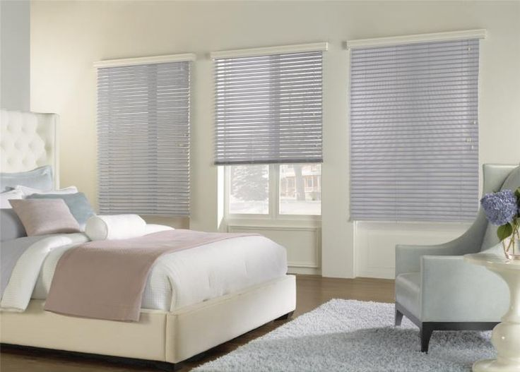 Create Privacy with Fabric Blinds which are perfect for any bedroom.  Remote controlled blinds allow for easy adjustment, especially for blinds that are in a hard to reach area.