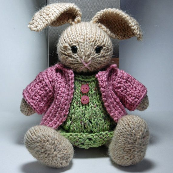 Knitting Patterns For Toy Rabbits : Bunny rabbit, Rabbit and Bunnies on Pinterest