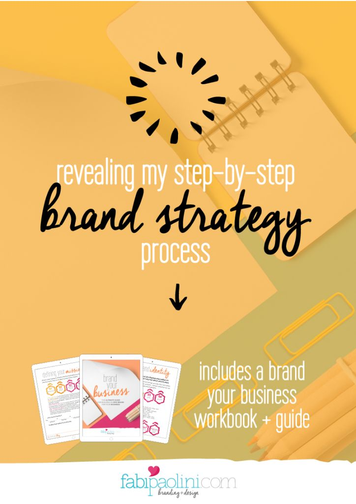 My complete step-by-step brand strategy process I use to build successful brands that attracts! // Fabi Paolini