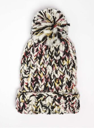 Dorothy Perkins Womens Multi Coloured Knitted Beanie Hat- Black Gorgeous multi colour chunky knitted beanie hat. Matching scarf and handwarmers available. 100% Acrylic. Machine washable. http://www.MightGet.com/january-2017-13/dorothy-perkins-womens-multi-coloured-knitted-beanie-hat-black.asp