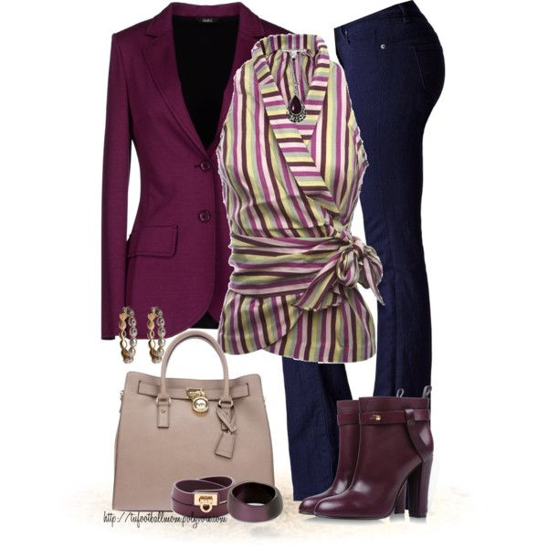 A fashion look from August 2013 featuring Twenty8Twelve blouses, Carla G. blazers and Victoria's Secret jeans. Browse and shop related looks.