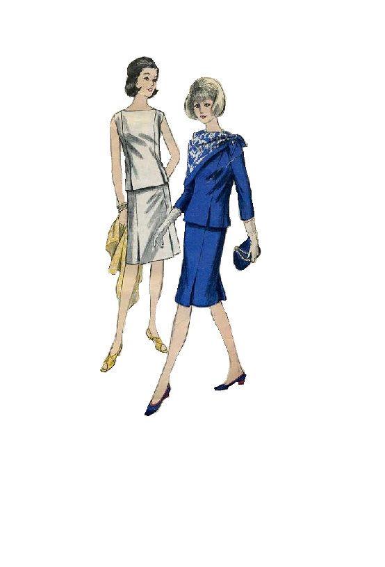 Vogue 6260 cartamodello Mad Men stile moda anni sessanta Kick piega gonna dritta alta collo camicia segretario tuta busto 34 di AdeleBeeAnnPatterns su Etsy https://www.etsy.com/it/listing/159359571/vogue-6260-cartamodello-mad-men-stile