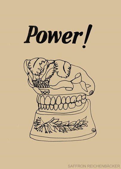 Power! Limited Edition Print - fancy teeth - tooth illustration - dentistry - teeth - grillz - vintage - lowbrow - dental art