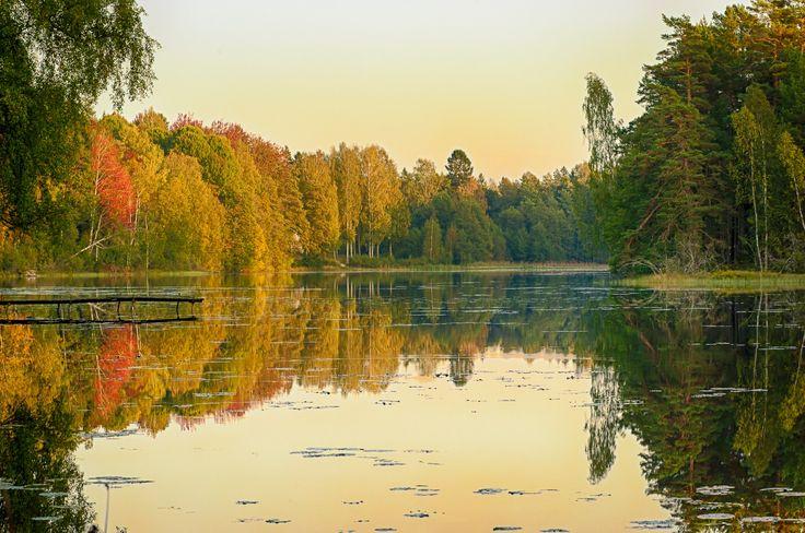 Autumn on the lake by Sebastian Rudnicki on 500px