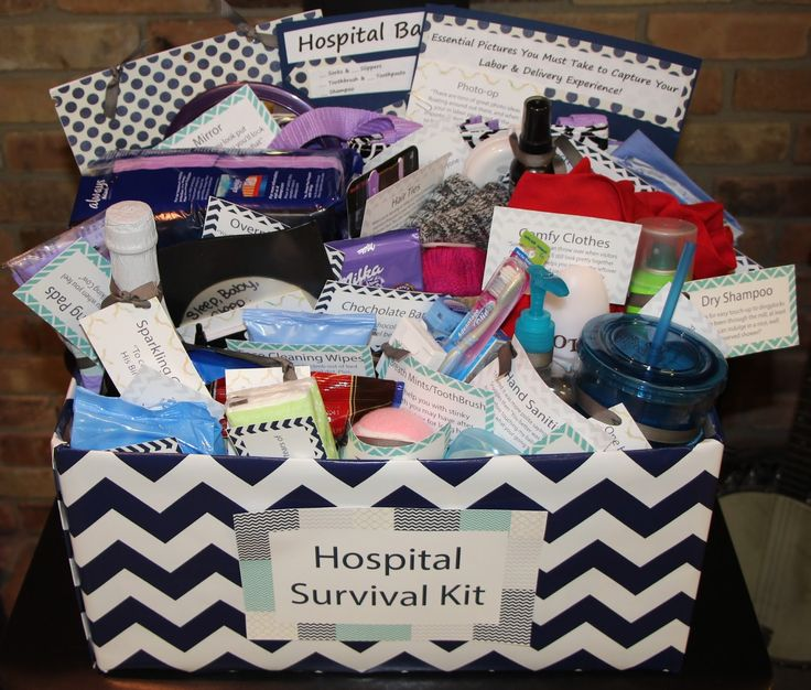 Hospital survival kit for a new Mom. Description from pinterest.com. I searched for this on bing.com/images