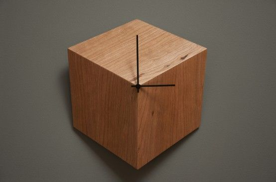 Awesome wall clock, 2D hexagon looks like a 3-D cube! 3P Clock: Time Is Merely An Illusion   DigsDigs