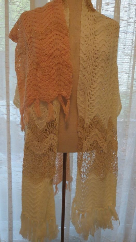DRESSY TRUE VINTAGE CROCHETED SHAWLS FOR HOLIDAY PARTIES, COTILLIONS, THE OPERA . . . . . . . . .