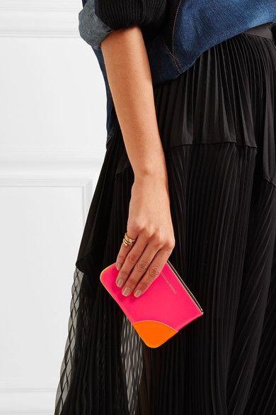Comme des Garçons - Super Fluo Neon Leather Wallet - Pink