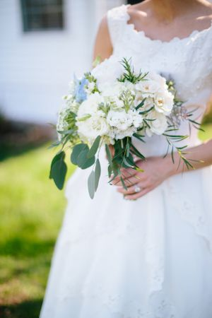 Ivory and Blue Bouquet