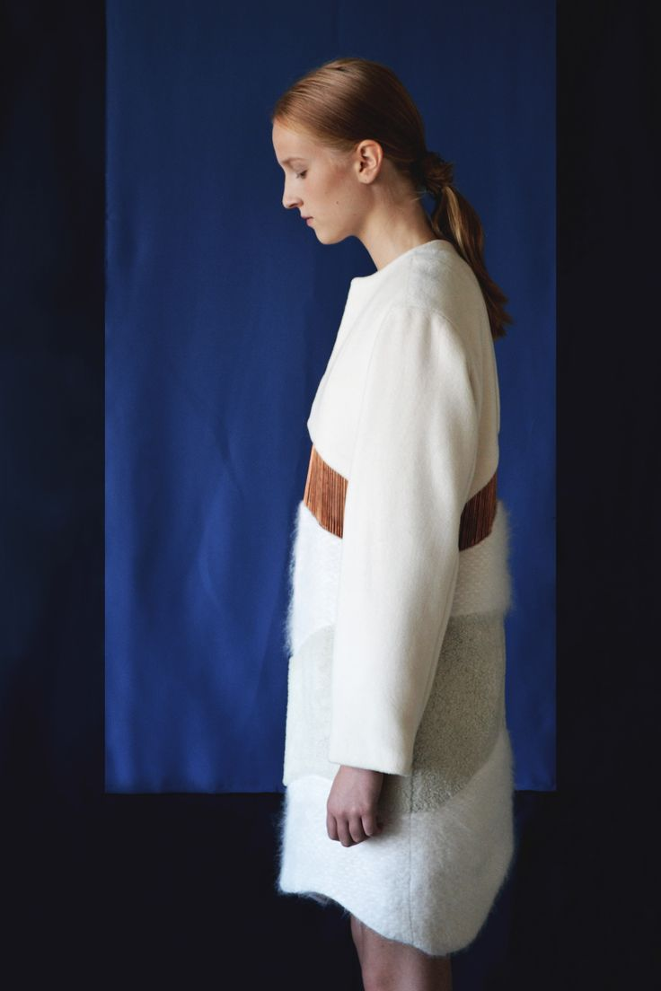 Anni Lehtosalo BA Graduate Collection.  Photography: Sara Riikonen.   #mohair #mohair coat #copper