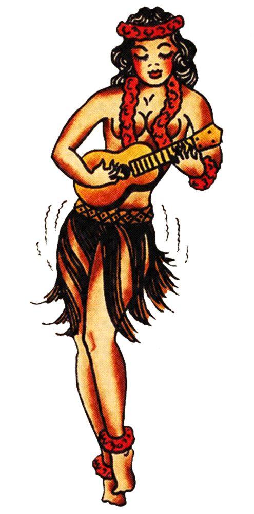 Sailor Jerry, Vintage Tattoo, Designs, Hula Girl, Ukulele ...