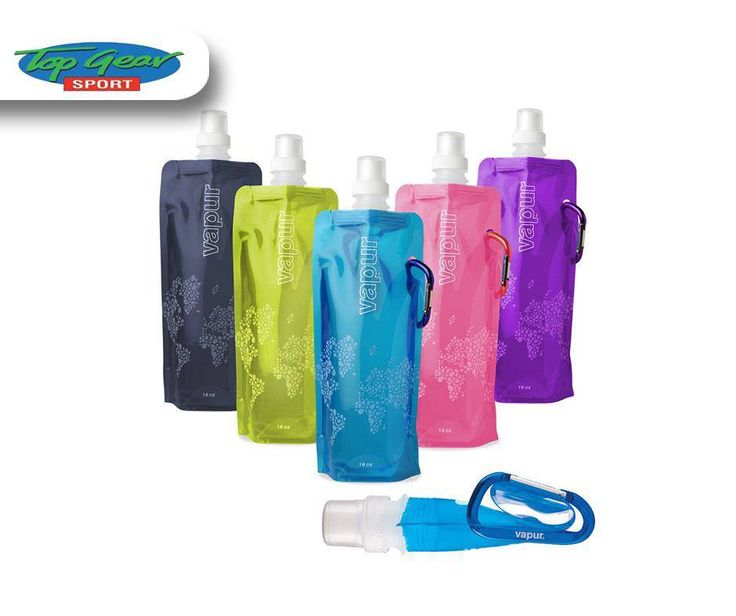 The #Vapur Reflex is the most portable, reusable water bottle on the planet. It stands upright when full and rolls, folds or flattens when empty. Available from #TopGearSport George.