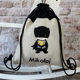 Personalized Draw String Back Pack - Batman