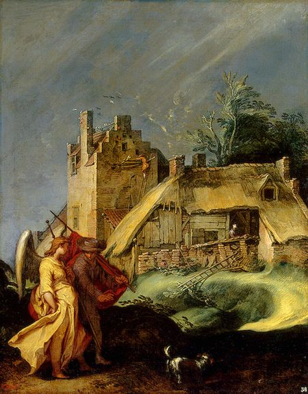 Abraham Bloemaert - Landscape with Tobias and the Angel (early 1600's); The State Hermitage Museum, St. Petersburg, Russia