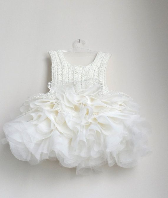 Ivory lace and tulle Baby Tutu Dress Baby dress with Lace
