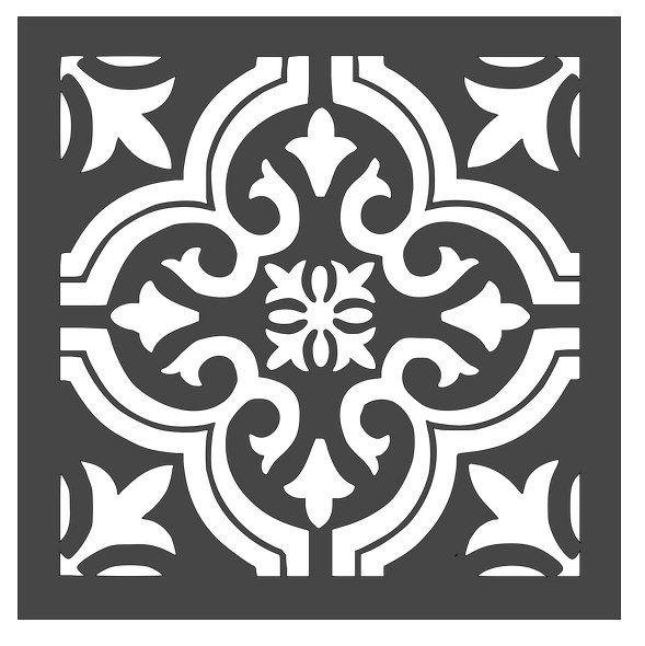 tile stencil style 7 12x12 etsy