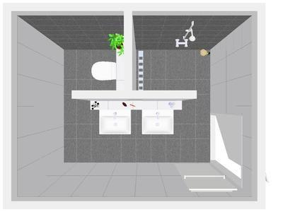 Bekijk de foto van Aranka met als titel Idee voor inrichting badkamer. indeling badkamer met inloopdouche  en andere inspirerende plaatjes op Welke.nl.