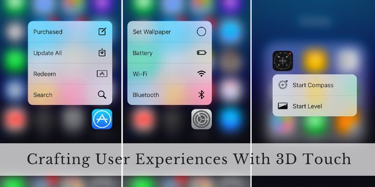 Crafting UX with 3D touch #Mobile #iOS #Apple #Apps #UX
