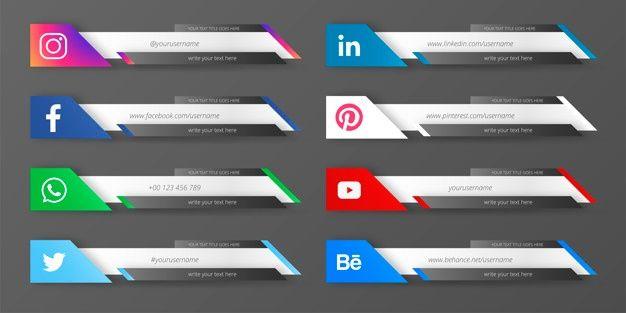 Download Modern Social Media Lower Third Collection For Free Lower Thirds Social Media Logos Vector Free