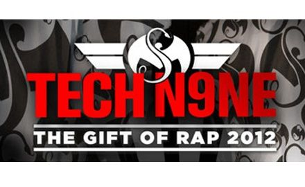 On December 7th, Tech N9ne and Strange Music bring you the first annual Gift Of Rap 2012 LIVE from the Independence Events Center in Independence, MO! The massive event will feature live performances from Tech N9ne, E-40, Krizz Kaliko, Kutt Calhoun, and Rittz. Proceeds from the event will benefit the Love Fund For Children and Harvesters: The Community Food Network during a season where donations are needed most.