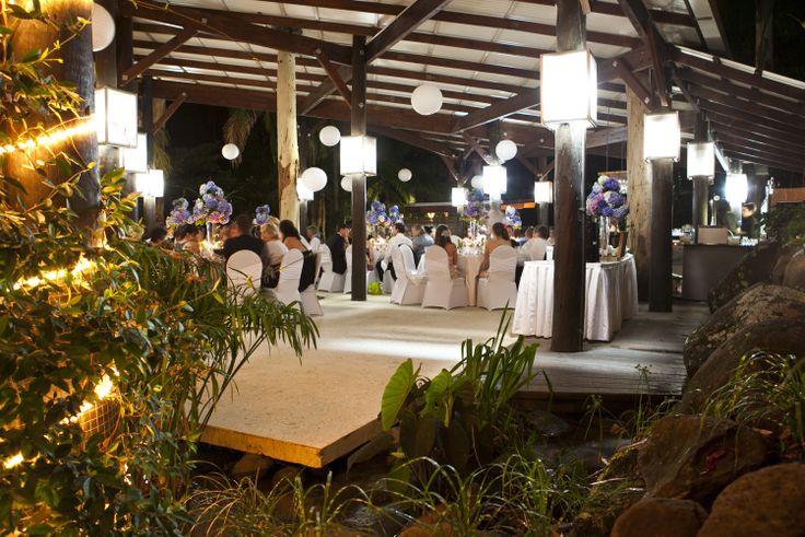 Outdoor Reception Venue at Cedar Creek Lodges on Mount Tamborine