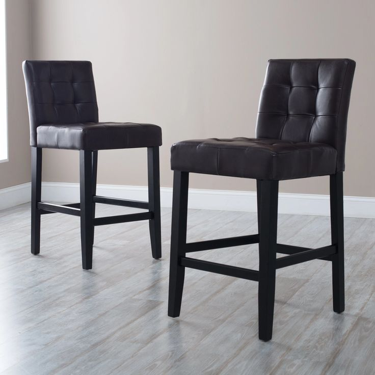 Martha Bonded Leather Counter Stool | from hayneedle.com