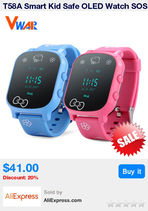 T58A Smart Kid Safe OLED Watch SOS Call GPS WIFI Location Finder Tracker for Child Anti-Lost Remote Monitor Baby Wristwatch  * Pub Date: 21:11 Jul 4 2017