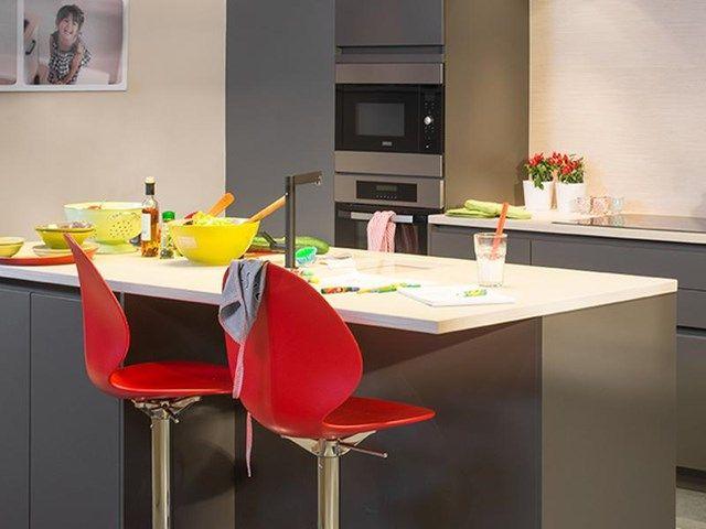 18 best cuisine ouverte images on Pinterest Open floorplan kitchen - plan de travail cuisine rouge