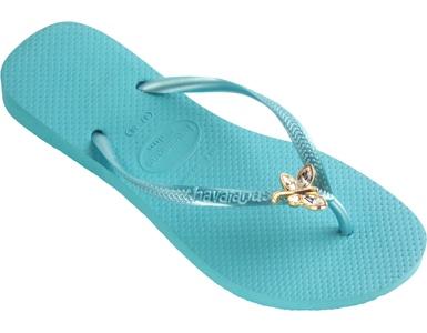 Havaianas Slim Crystal Dragonfly: Ocean Green