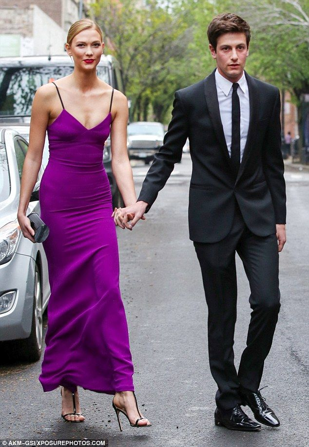 No shrinking violet: Her millionaire businessman beau Joshua Kushner did accompany Karlie to the New York gala when she was honored as one of Time magazine's 100 Most Influential People for both her modelling and charity work on Tuesday