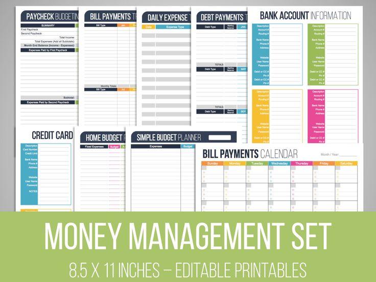 Gestione del denaro impostato modificabile di FreshandOrganized