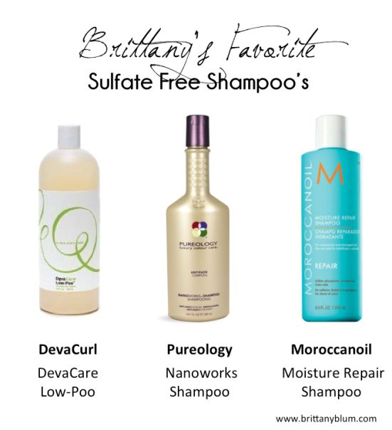 Favorite Sulfate Free Shampoos - Plus benefits of why you should switch!    www.brittanyblum.com