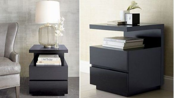 Bedroom: Black Nightstand With Charging Station Brockhurststud Regarding Nightstand With Charging Station Plan from The Most Stylish Nightstand With Charging Station Attractive