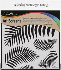 Tropical Frond Layering Stencil Art Screen for Paper Crafts, Home Decor and More