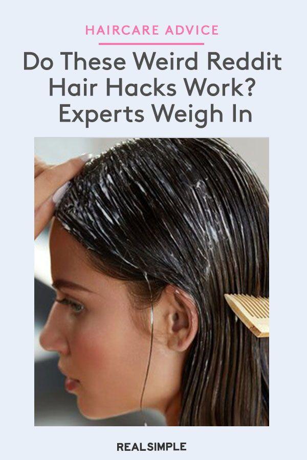 Do These Weird Reddit Hair Hacks Work Experts Weigh In In 2020 Hair Hacks Detangling Natural Hair Damp Hair Styles