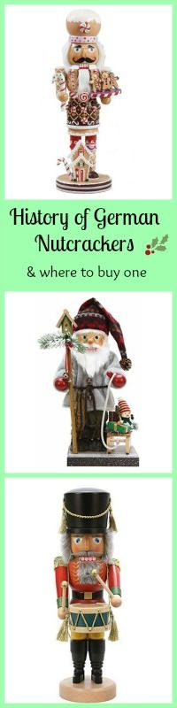Learn the History of German Nutcrackers, and where you can find the perfect German Nutcracker for your home!