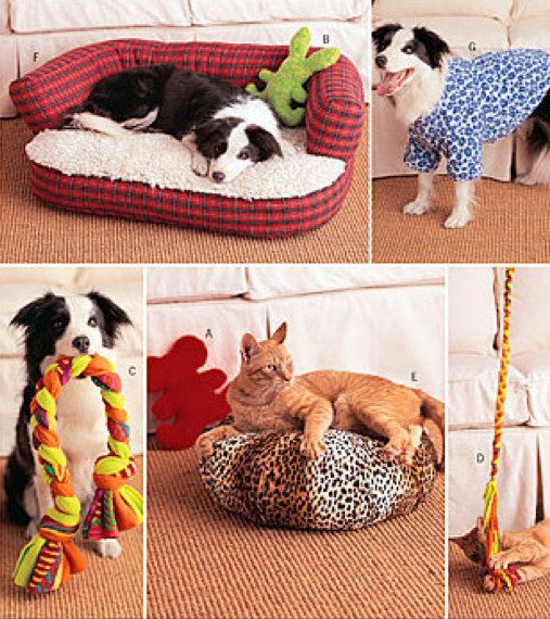 PET Sewing Pattern  Dog Beds Pets Toys Dogs Coat by patterns4you, $12.95