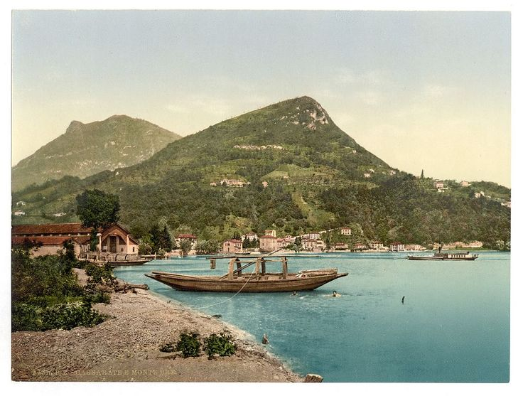 Lugano, Cassarate and Monte Brè, Tessin, Switzerland.  : Views of Switzerland in the Photochrom print collection