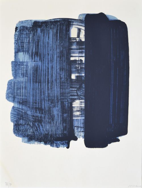 lithographie n° 33 by pierre soulages, 1974.