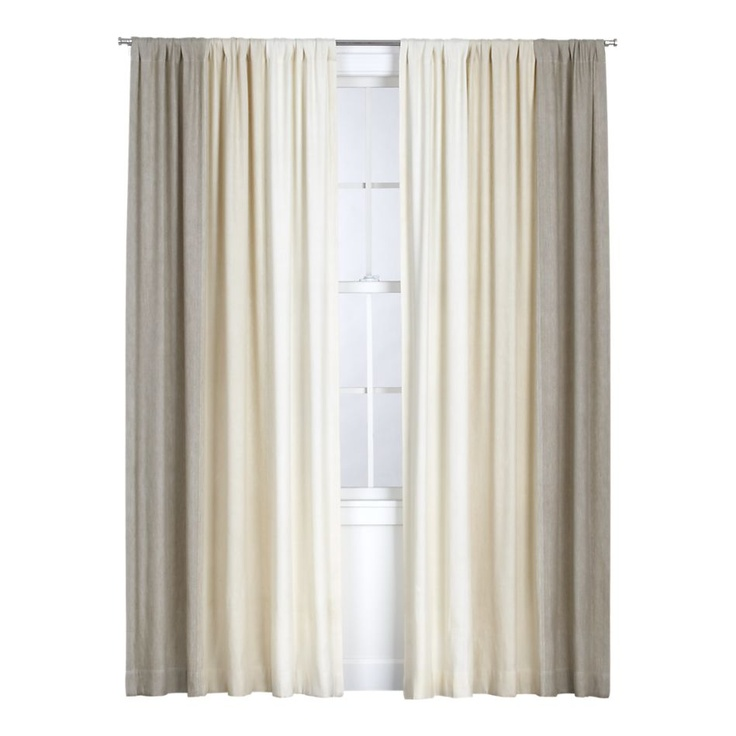 Petra Neutral Curtain Panel in Curtains | Crate and Barrel