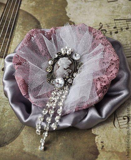 """Брошь """"Серебряный век"""" - брошь,винтаж,романтика,камея,кристаллы,нарядная"""