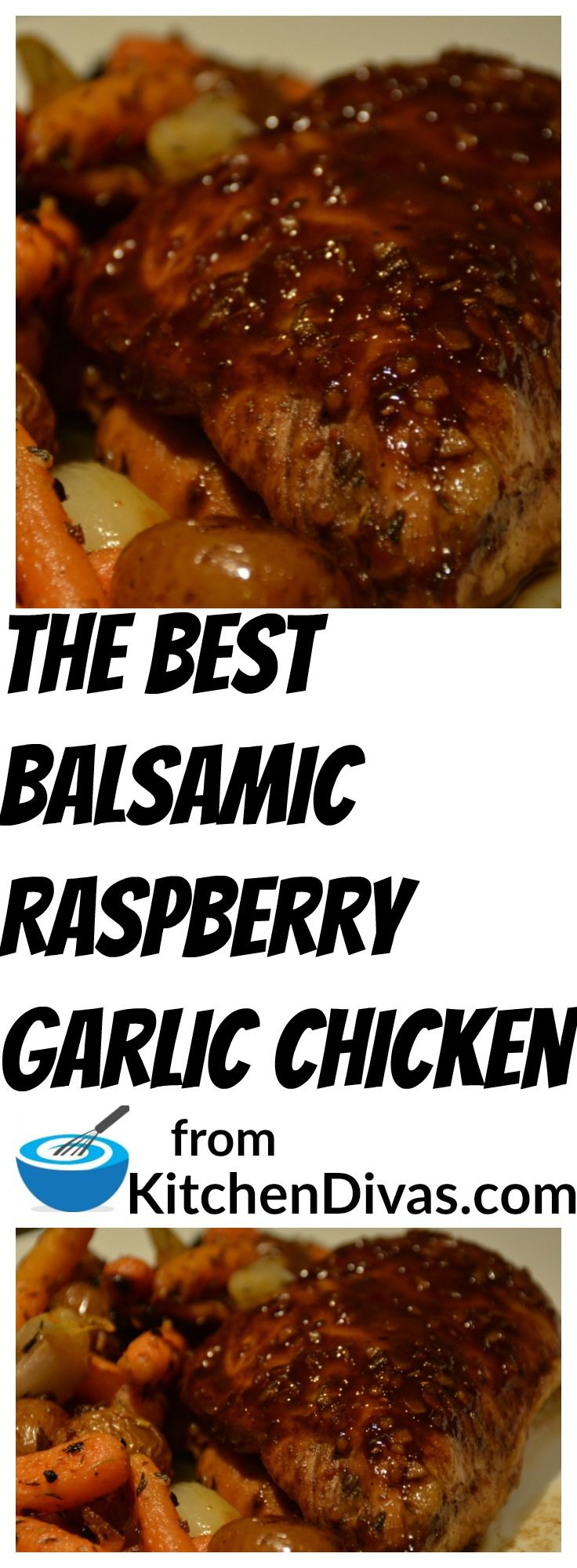 This Balsamic Raspberry Garlic Chicken is absolutely delicious and easy too! The end result is so moist and so tasty no matter which way you make it. I think I might try seedless raspberry!