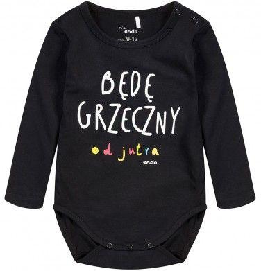 Ubranka dla niemowlaka: http://endo.pl/dla-niemowlaka Endo ubranka dla dzieci  Body z długim rękawem dla niemowlaka N52M083_1
