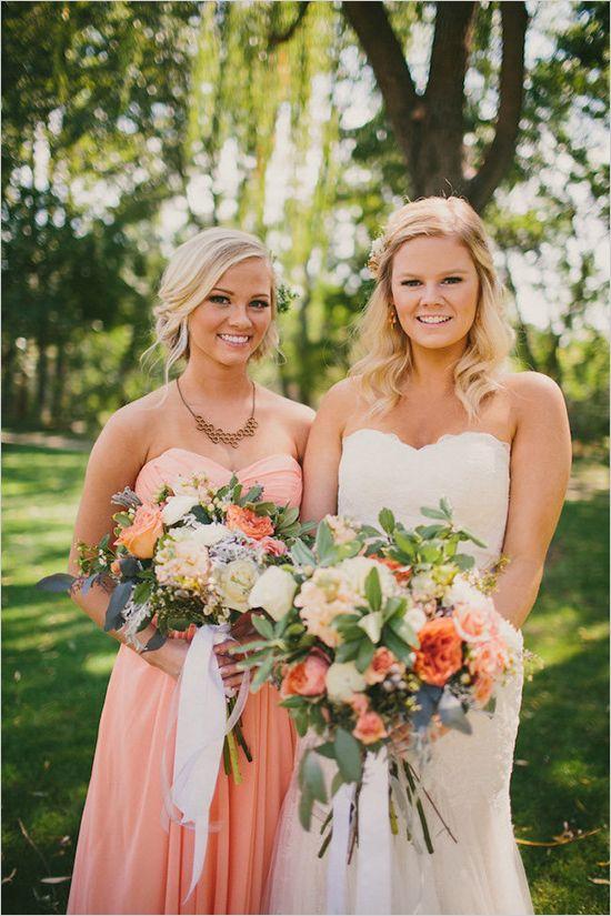 the wedding chicks gray and peach wedding gray and peach boise idaho