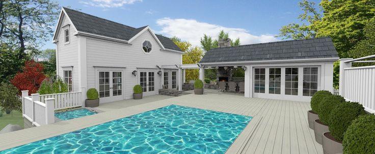 Bygglovshandlingarna är nu klara att lämnas in för detta New England inspirerade hus som kommer att byggas i Upplands Bro - nära Brohof gol...
