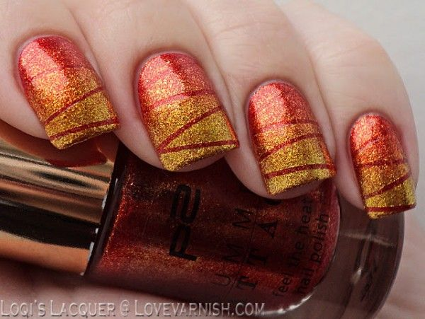 Fall Nail Art Ideas | Tape Manicure by Love Varnish